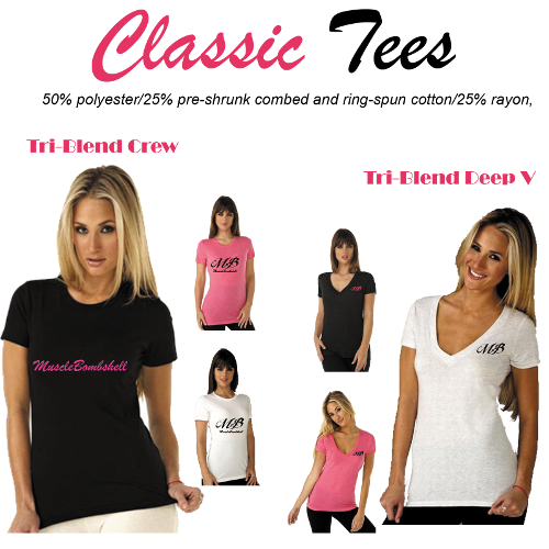 MB classic tees MuscleBombshell® Shop